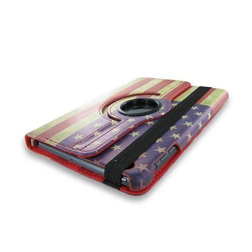 Apple iPad Mini American Flag Leather Case