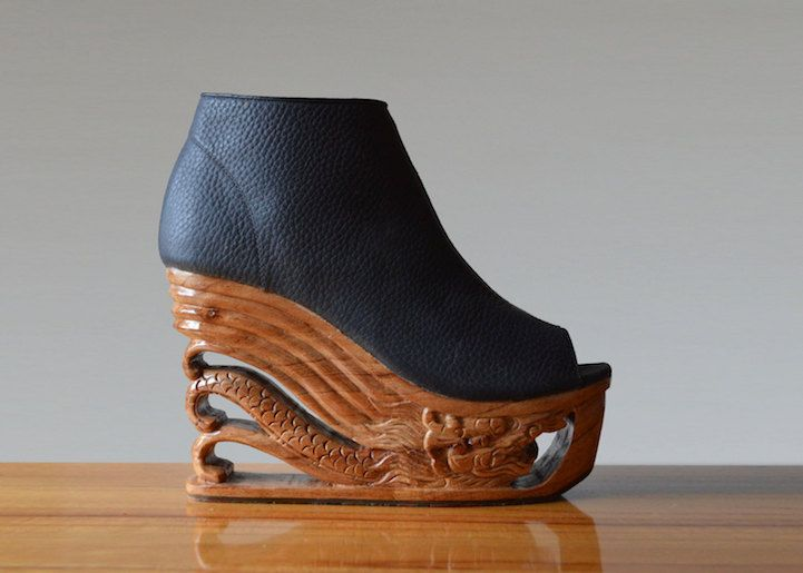 8fe87b9c9e Exquisite Wooden Heels Hand-Carved with Ancient Vietnamese Pagoda  Techniques - My Modern Met