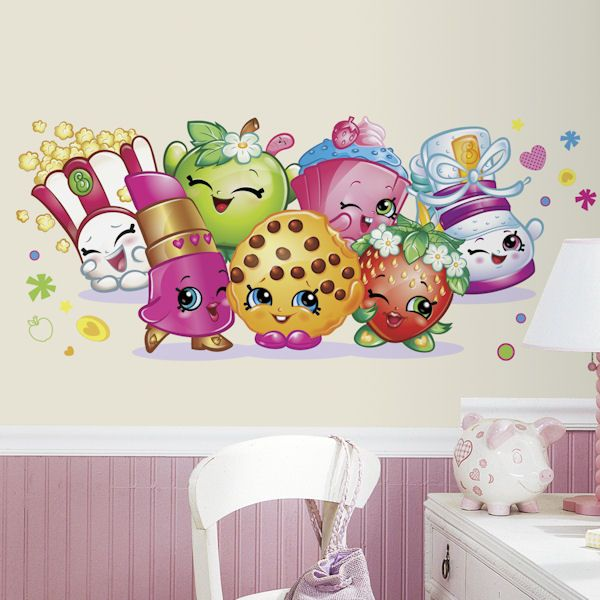 Merveilleux Shopkins Pals Giant Peel And Stick Wall Decals   Wall Sticker Outlet