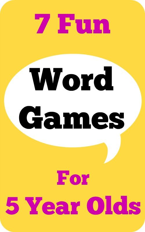 7 Fun Word Games For 5 Year Olds Language Arts