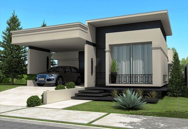 Fachadas de casas t rreas fotos modelos casas com for Foto casa classica