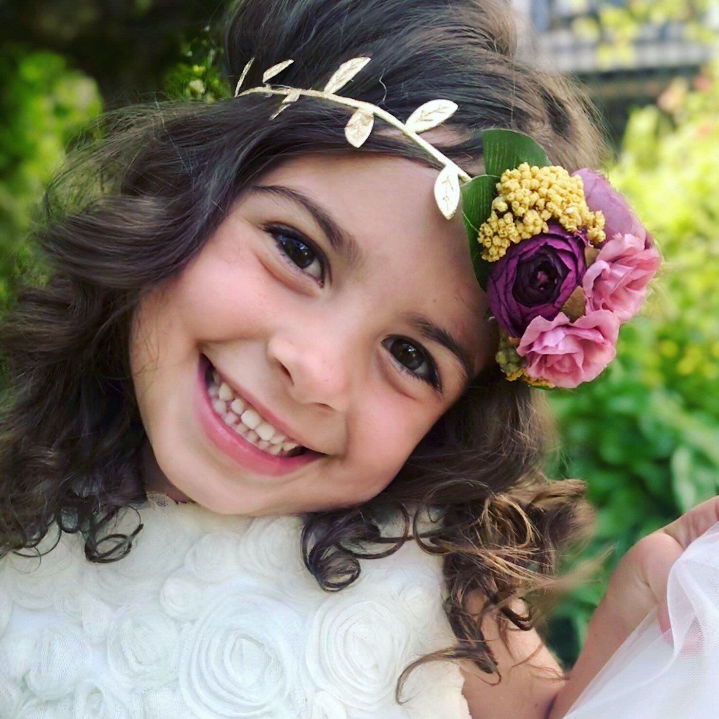 Fall Wedding Hairstyles With Flower Crown: Fall Headband, Flower Crown, Wedding Hair Clip