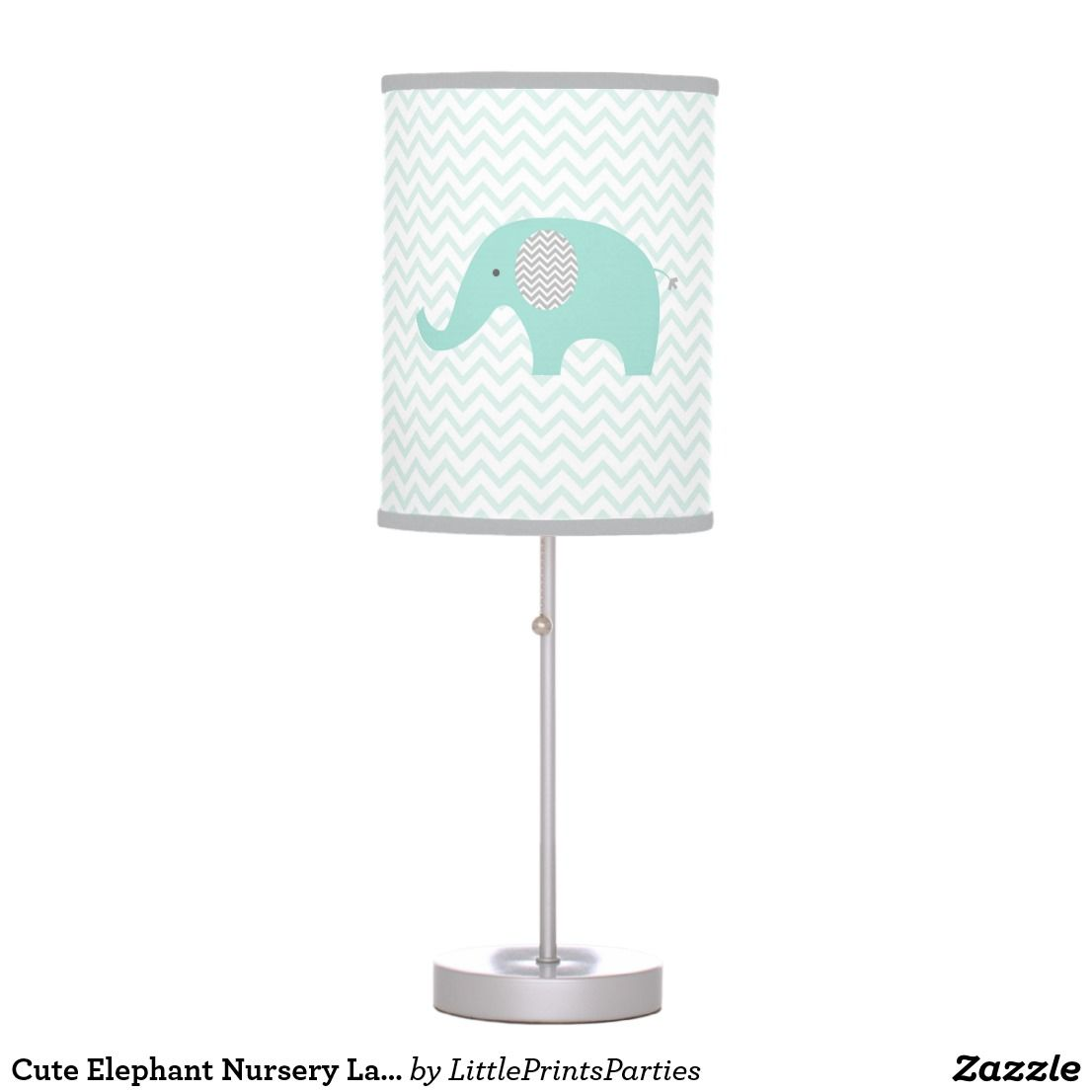 Cute Elephant Nursery Lamp Mint Green U0026 Grey