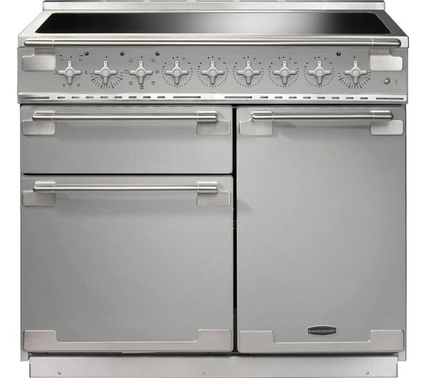 elise 100 electric induction range cooker stainless steel u0026 chrome