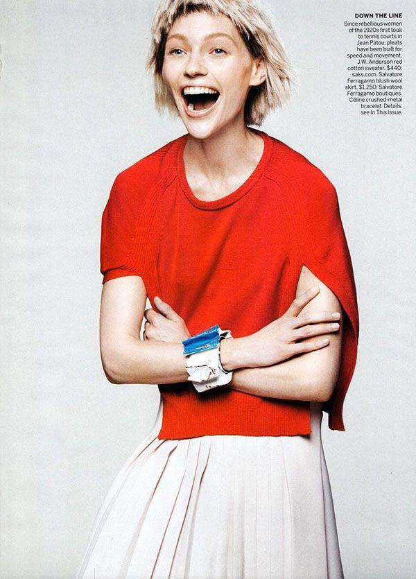 Sasha Pivovarova In 'Razor's Edge' By David Sims For Vogue US January2014 - 8 Style | Sensuality Living - Anne of Carversville Women's News...