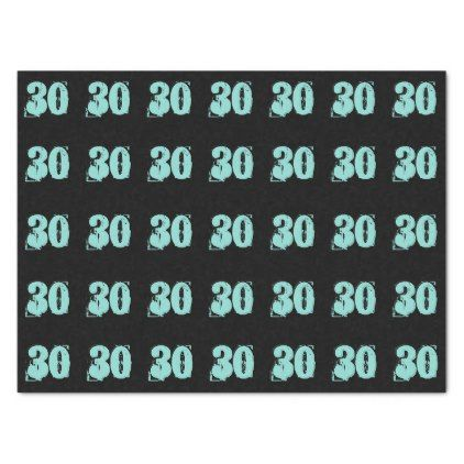 Tiffany Blue 30th Dirty Thirty Party Tissue Paper