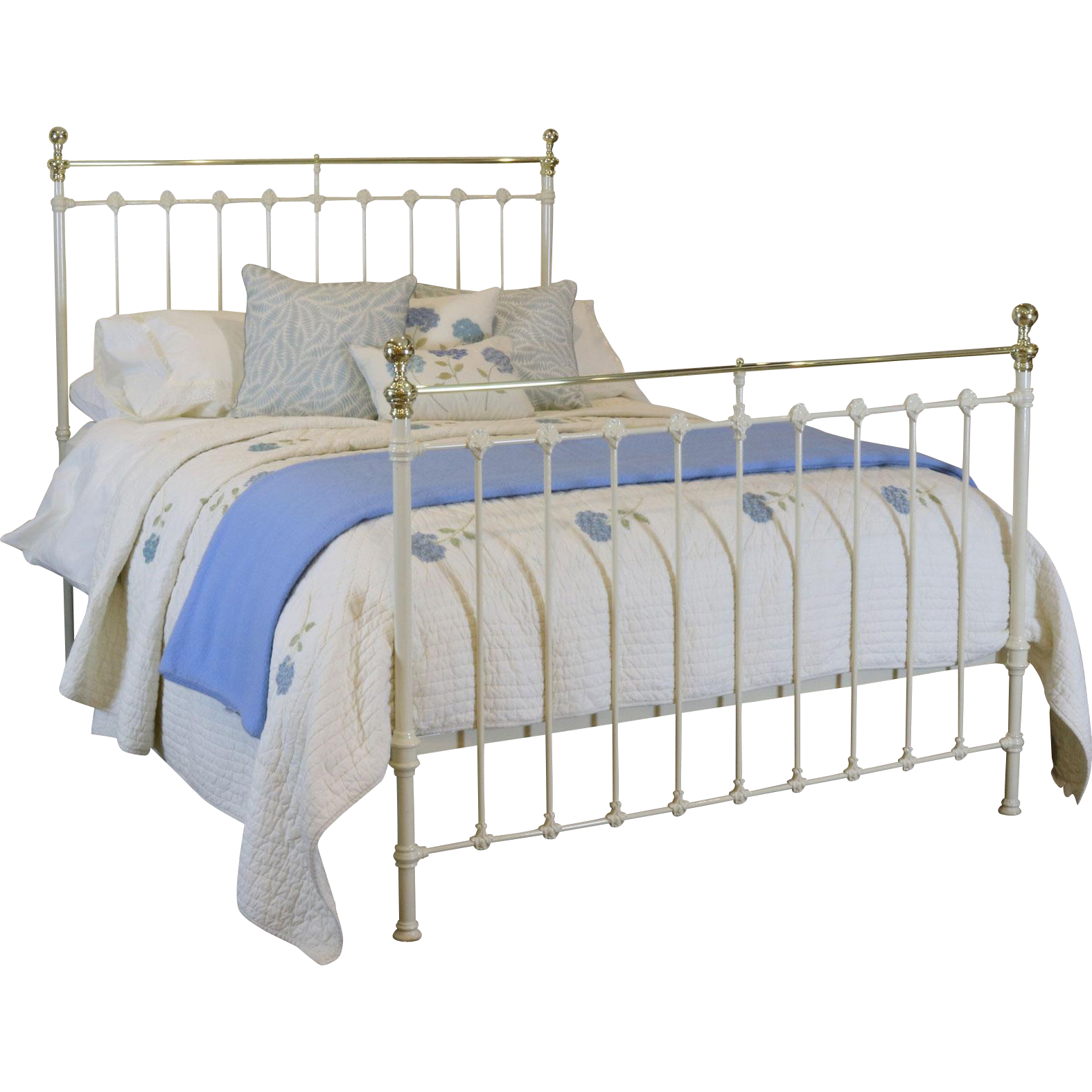 Victorian Cream Brass and Iron Bed Iron bed, Bed, Furniture