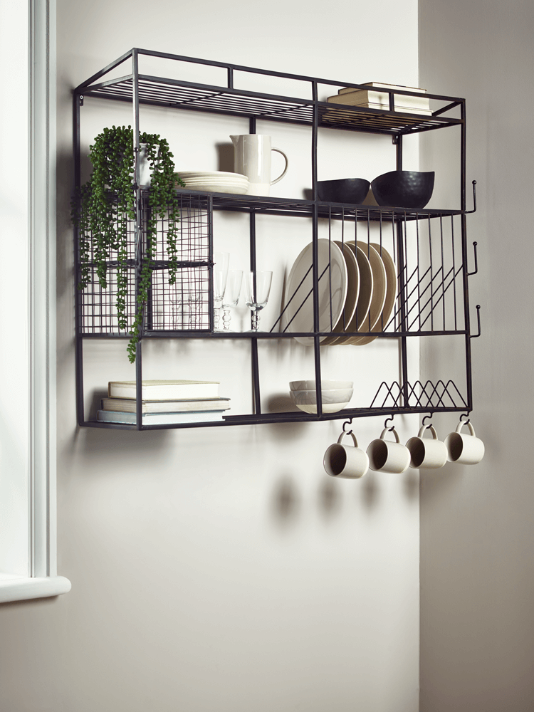 Industrial Style Iron Wall Unit In 2019 Hotel Canteen