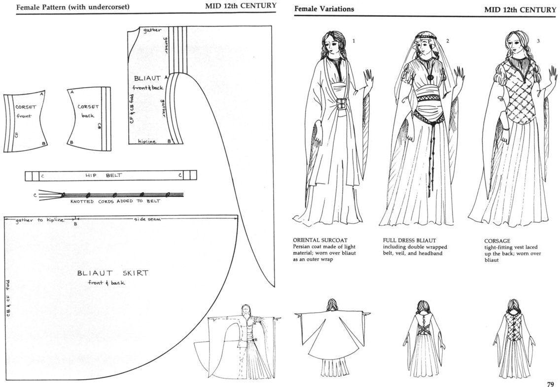 Pin von katherine auf sewing | Pinterest | LARP, Mittelalter und Nähen