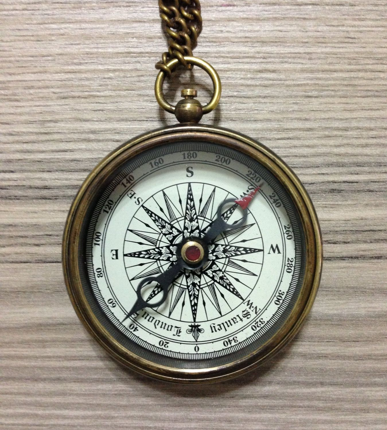 Antique Working Compass, engraved on the back