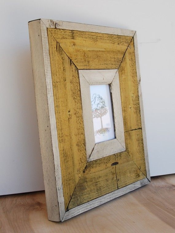 Shabby Barnwood Frame   Madera reciclada, Marcos y Arte en madera