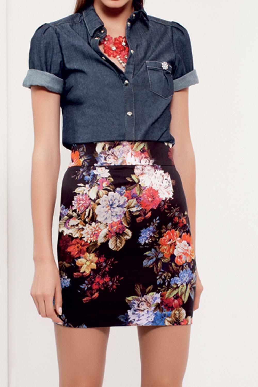 #zoom #skirt #necklace #denim #shirt #bettyblue #SS13