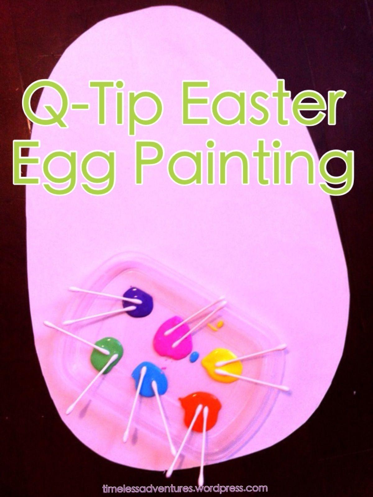 Qtip easter egg painting easter pinterest easter egg and