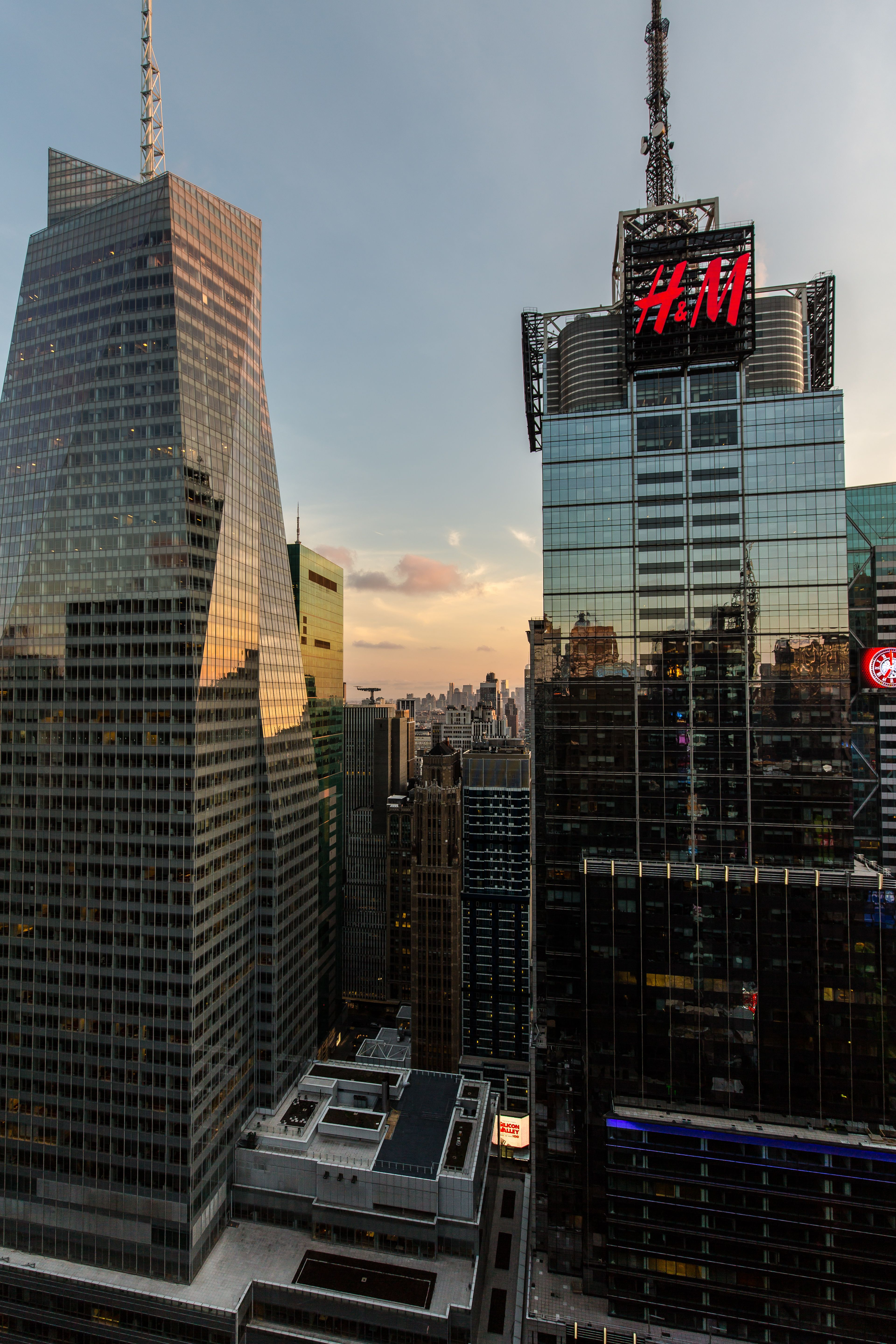 H&M building from over Times Square, New York City | New ...