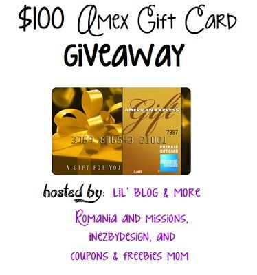 Win A $100 AMEX Gift Card!! http://ow.ly/71QQ305efam