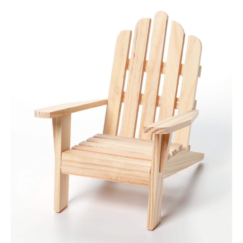 Unfinished Wood Mini Adirondack Chair 5 5 Inches Adirondack