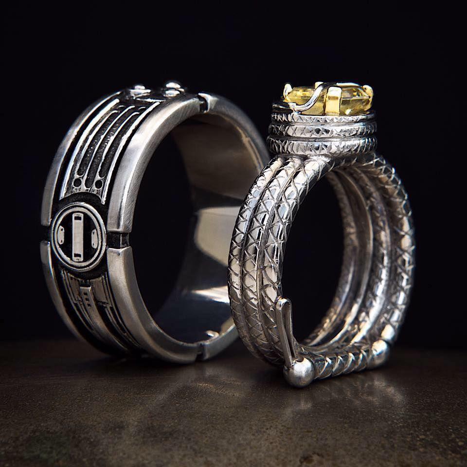 Custom star wars wedding ring inspiration may the 4th be