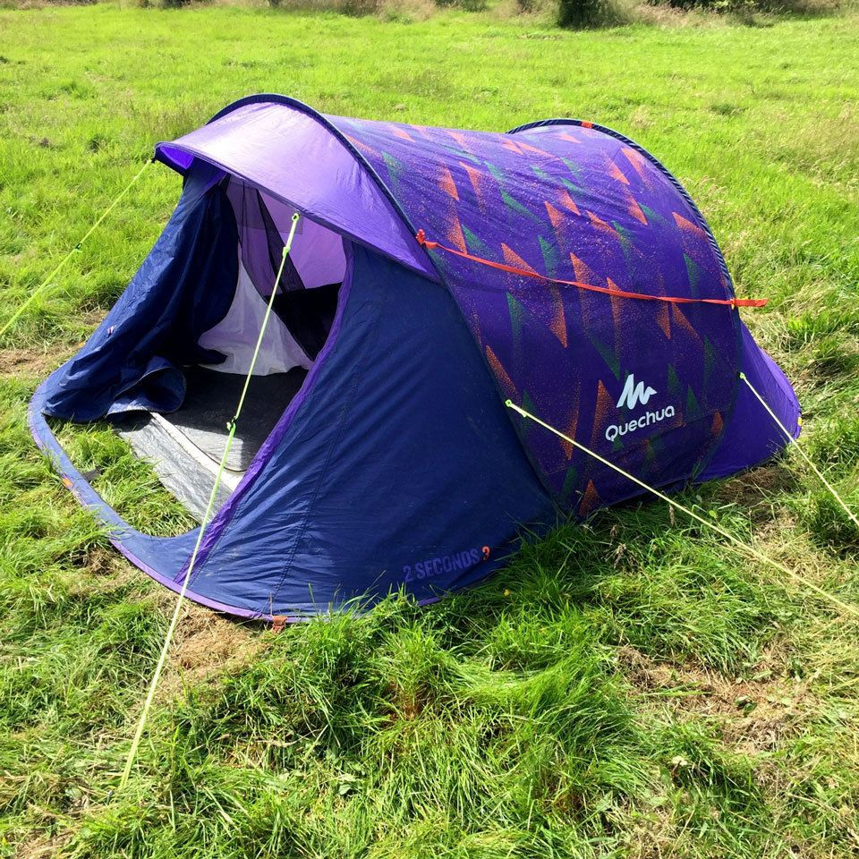 Quechua 2 Seconds III - 3 Man Popup Tent - C&ing / Festivals (pop up) in Sporting Goods C&ing u0026 Hiking Tents u0026 Canopies & Quechua 2 Seconds III - 3 Man Popup Tent - Camping / Festivals ...