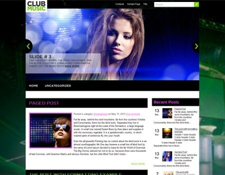 Plantilla WordPress Gratis Para Música | Plantillas Wordpress ...
