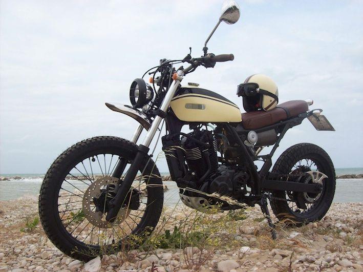 Suzuki DR650 Scrambler   steel   Scrambler motorcycle