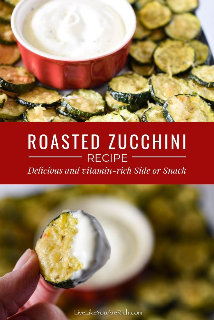 Roasted Zucchini recipe is delicious and vitaminrich side or snack