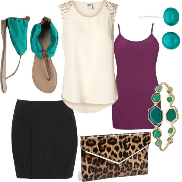 """Jewel Tones with Leopard"" by tgicrazy on Polyvore"
