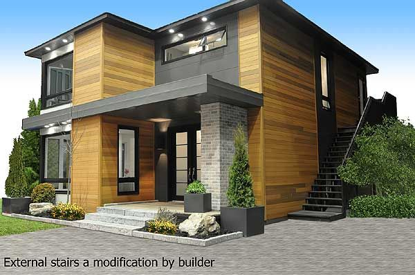 Plan 21998dr 2 Story Modernhome Plan Unique House Plans Modern Small House Design Small House Design Architecture