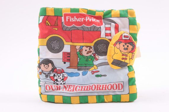 fisher price little people our neighborhood cloth book different