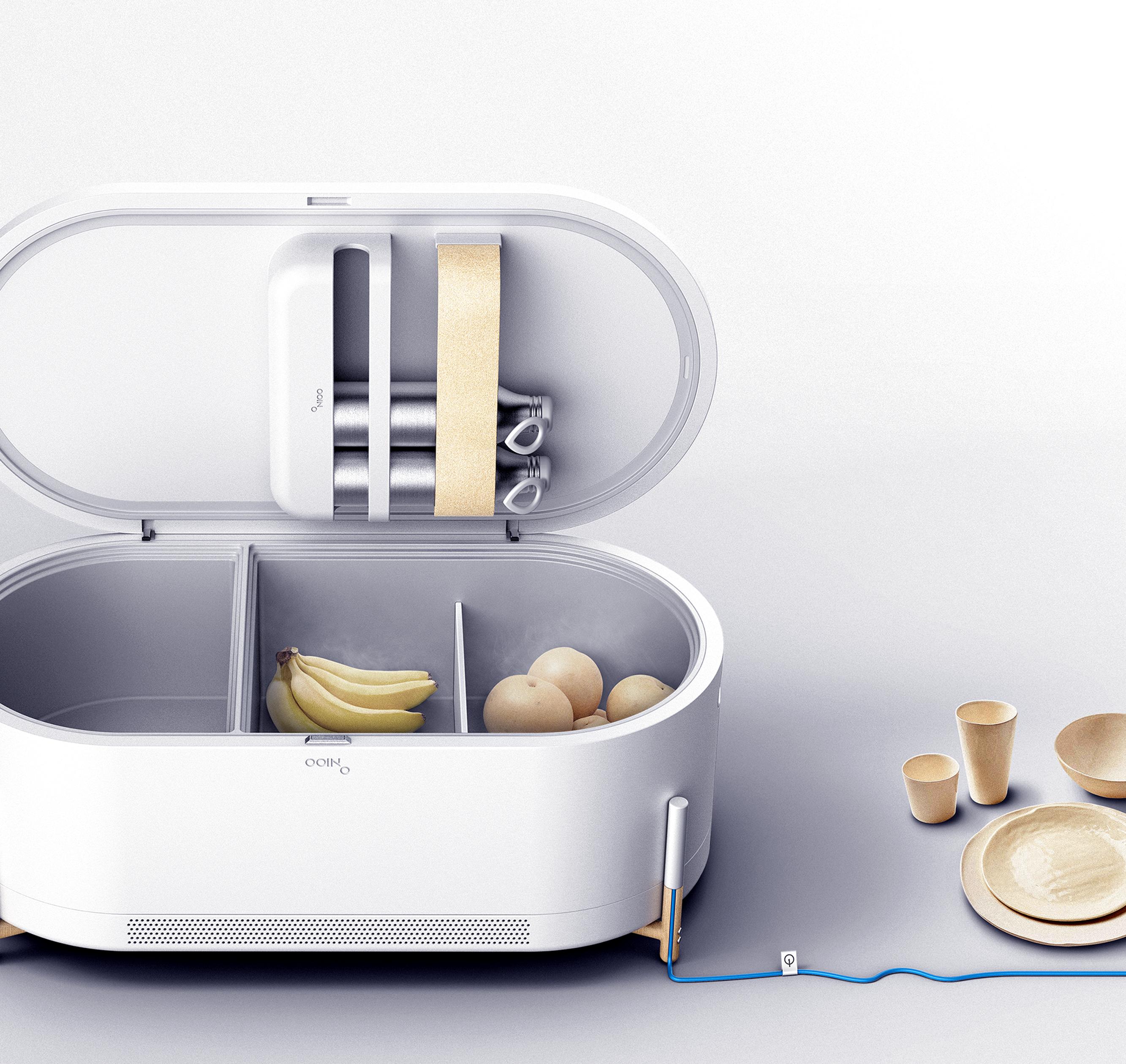 OOINO Mini Refrigerator on Behance 기능주의, 제품 디자인, 디자인