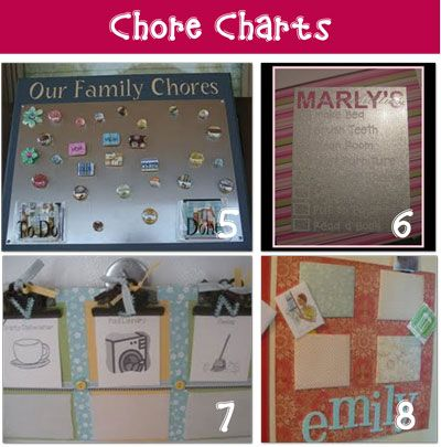 I love this idea for chore charts for the boys with the little pockets and Pictures of the actual chore since they are so young!