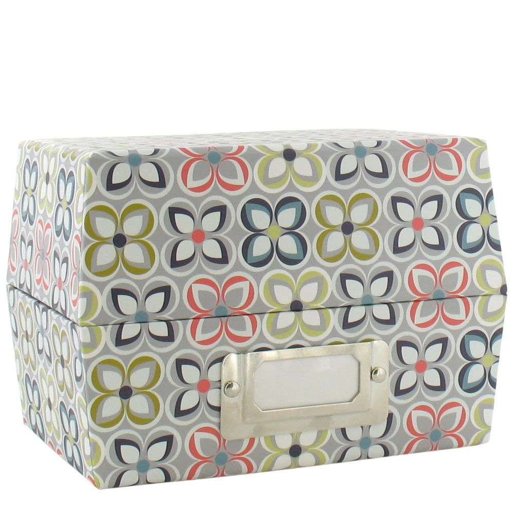 Linear floral index card box from paperchase linear floral index card box from paperchase reheart Images