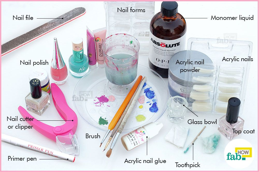 How To Apply Acrylic Nails At Home Fab How Acrylic Nails At Home Nails At Home Diy Acrylic Nails