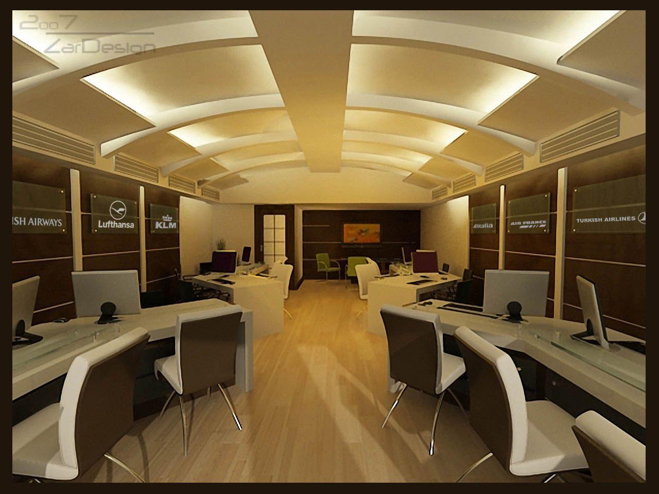 for Travel agency office interior design
