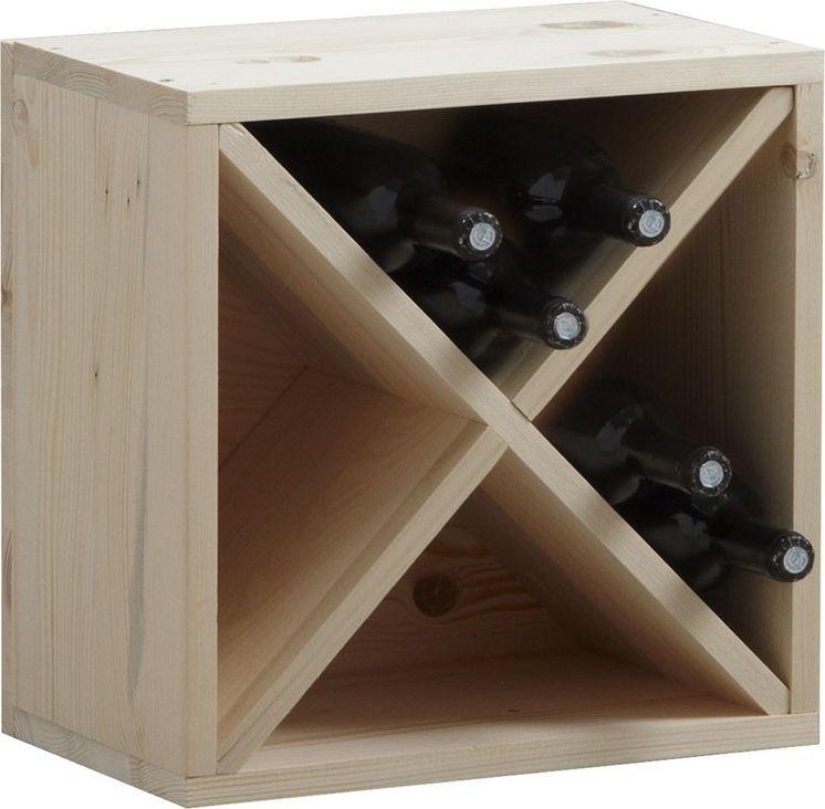 casier de rangement 16 bouteilles en epicéa sur | casier de