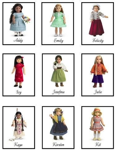 American Girl Memory Game ~ A free printable activity for kids you ...