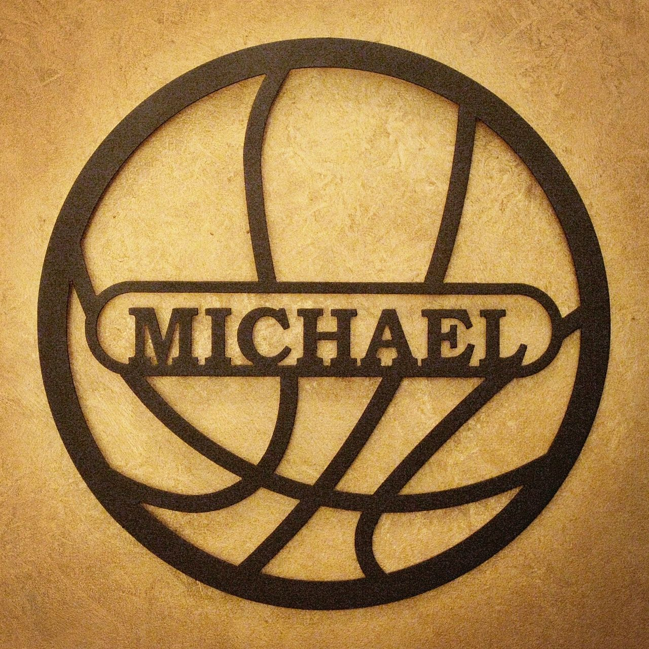Personalized Basketball Metal Wall Art | For the Home | Pinterest ...