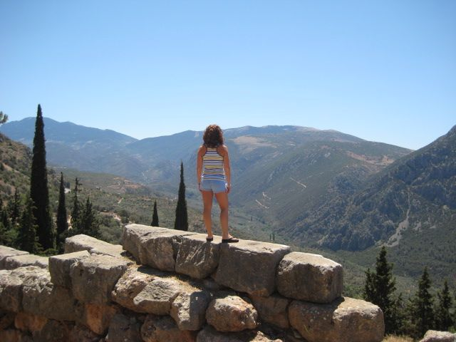 The whole world is your playground.  Taken in Delphi, Greece