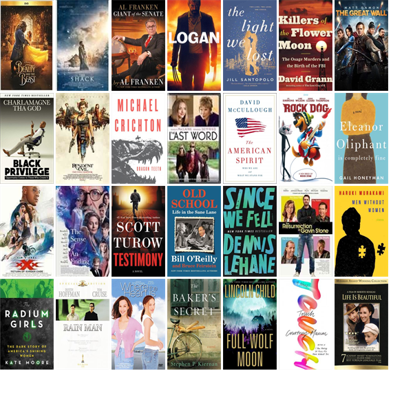 """Saturday, June 10, 2017: The Granville County Library System has 21 new bestsellers, 95 new videos, 14 new audiobooks, eight new children's books, and 205 other new books.   The new titles this week include """"Beauty and the Beast,"""" """"The Shack,"""" and """"Al Franken, Giant of the Senate."""""""