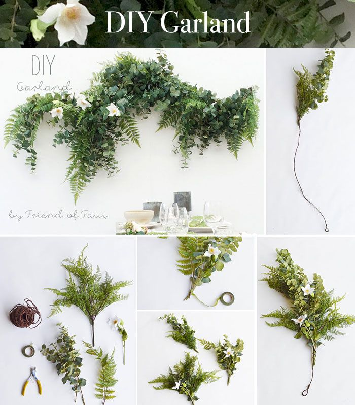 DIY Garland Made With Faux Greenery And Silk Flowers From Afloral Perfect For