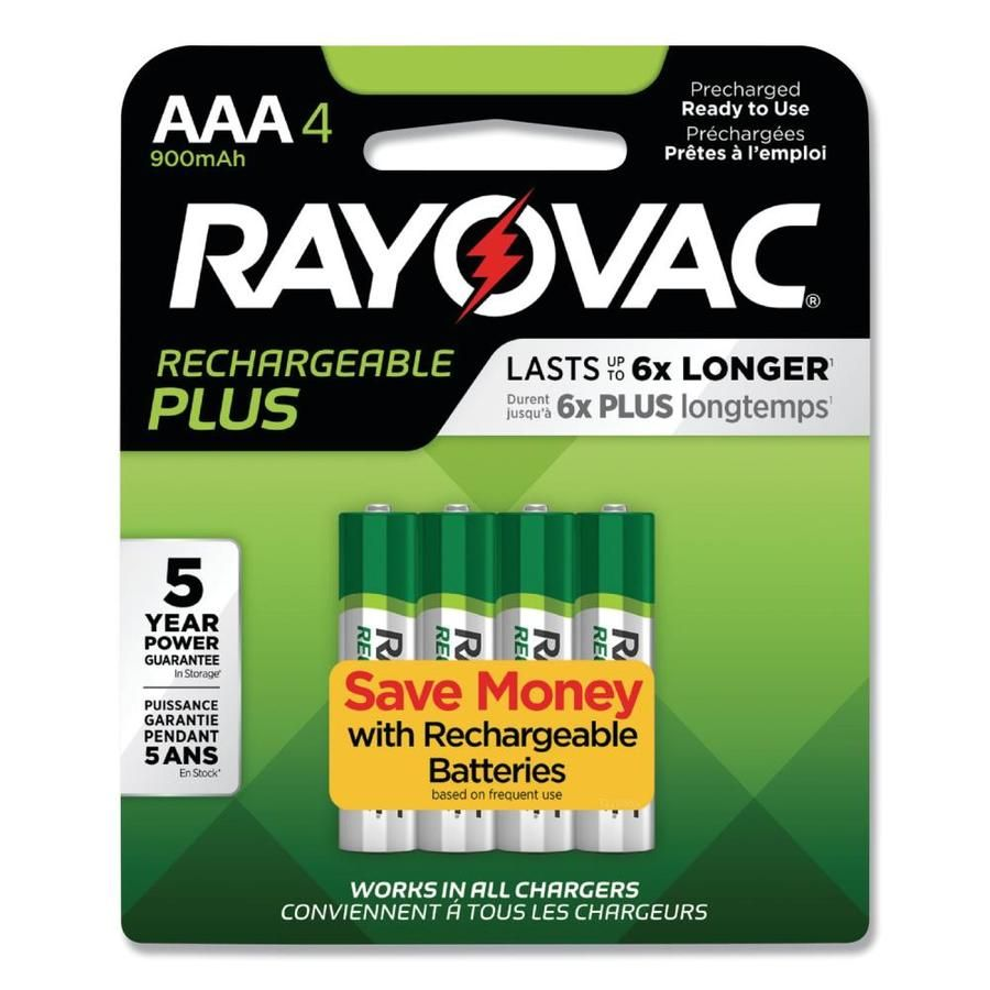 Rayovac Recharge Plus Rechargeable Nickel Metal Hydride Nimh Aaa Batteries 4 Pack Lowes Com Batteries Nimh Nimh Battery