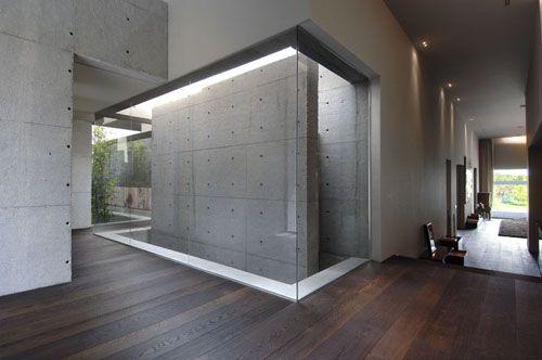 Wall Design Elegant Concrete House By A Cero Interior Architecture Design Concrete House Concrete Design