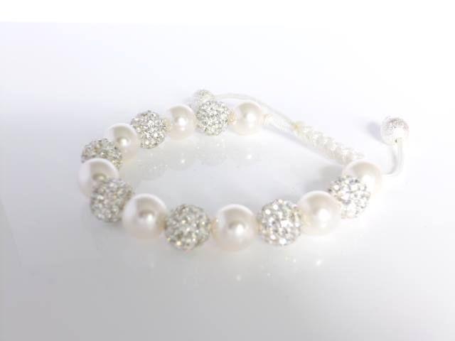 Swarovski Pearl & Shamballa Bead Bracelet