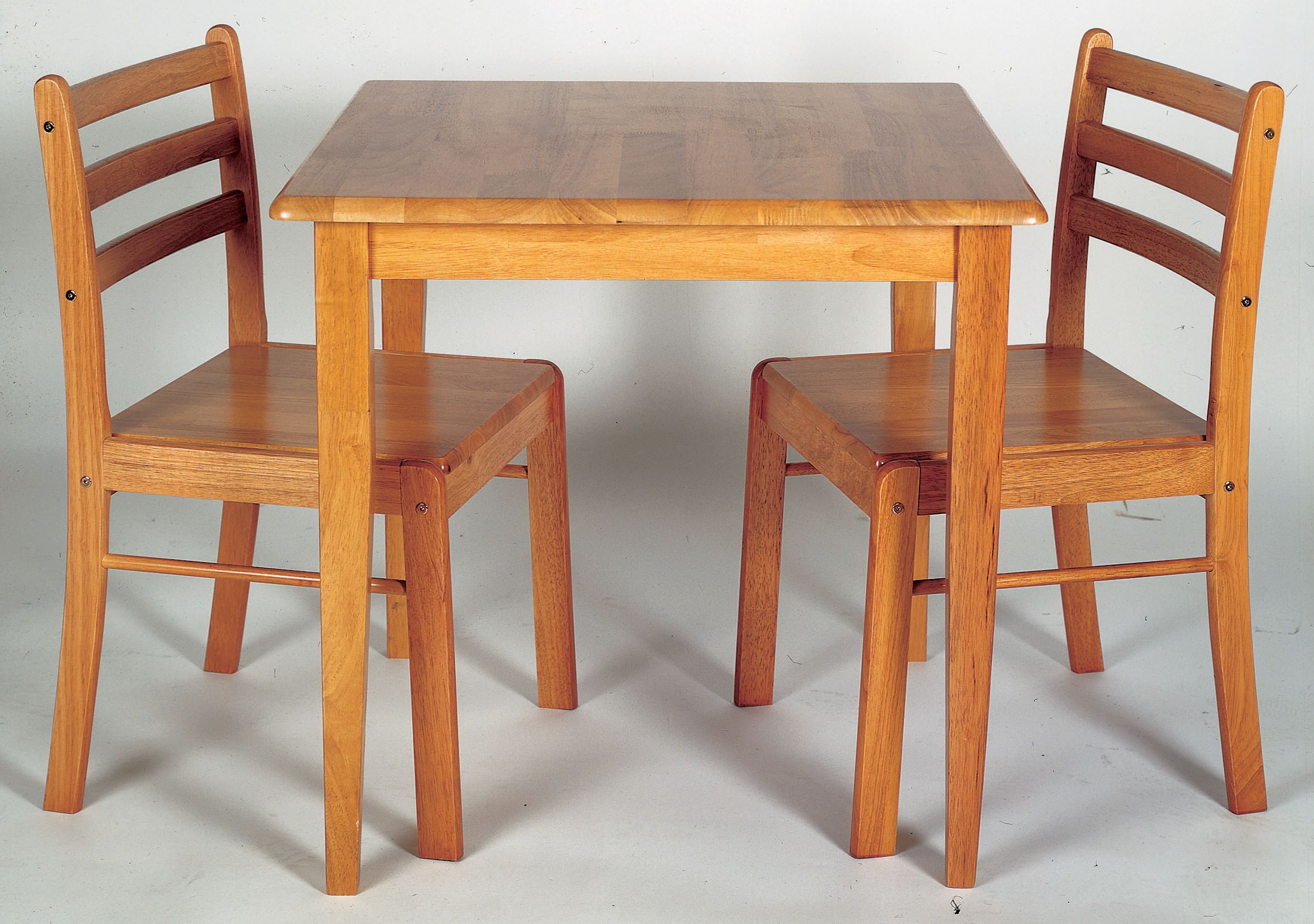 Honeymoon Antique Pine Finish Square Table With 2 Solid