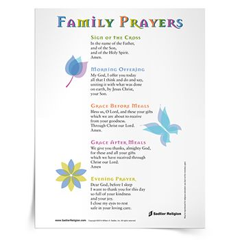 Check out Sadlier Religion's Prayers and Practices tab.
