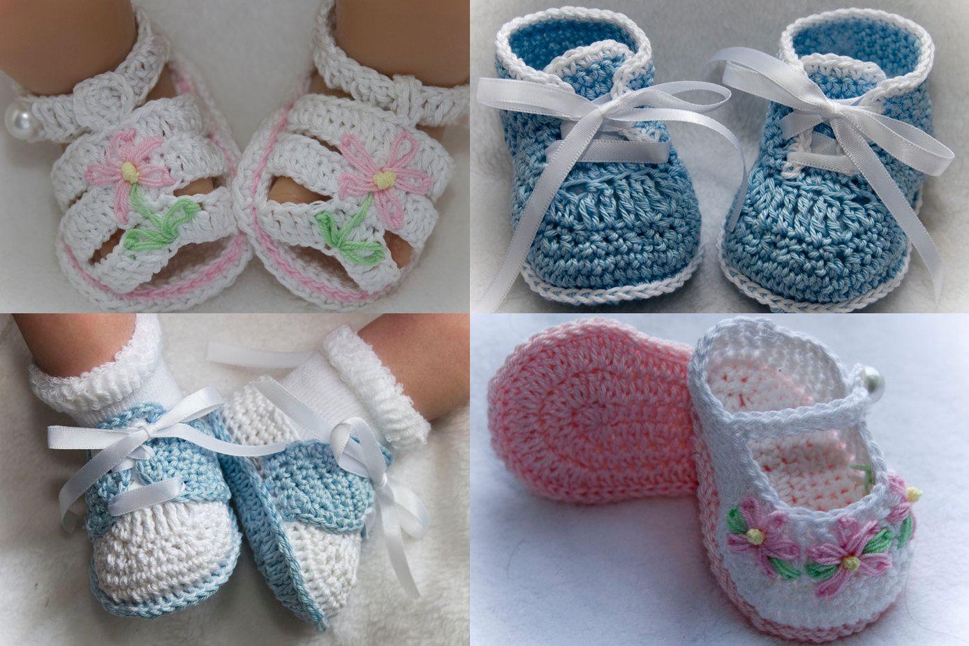 Cheryl\'s Crochet CC65-Assorted Grace Booties PDF Pattern. $8,00, via ...