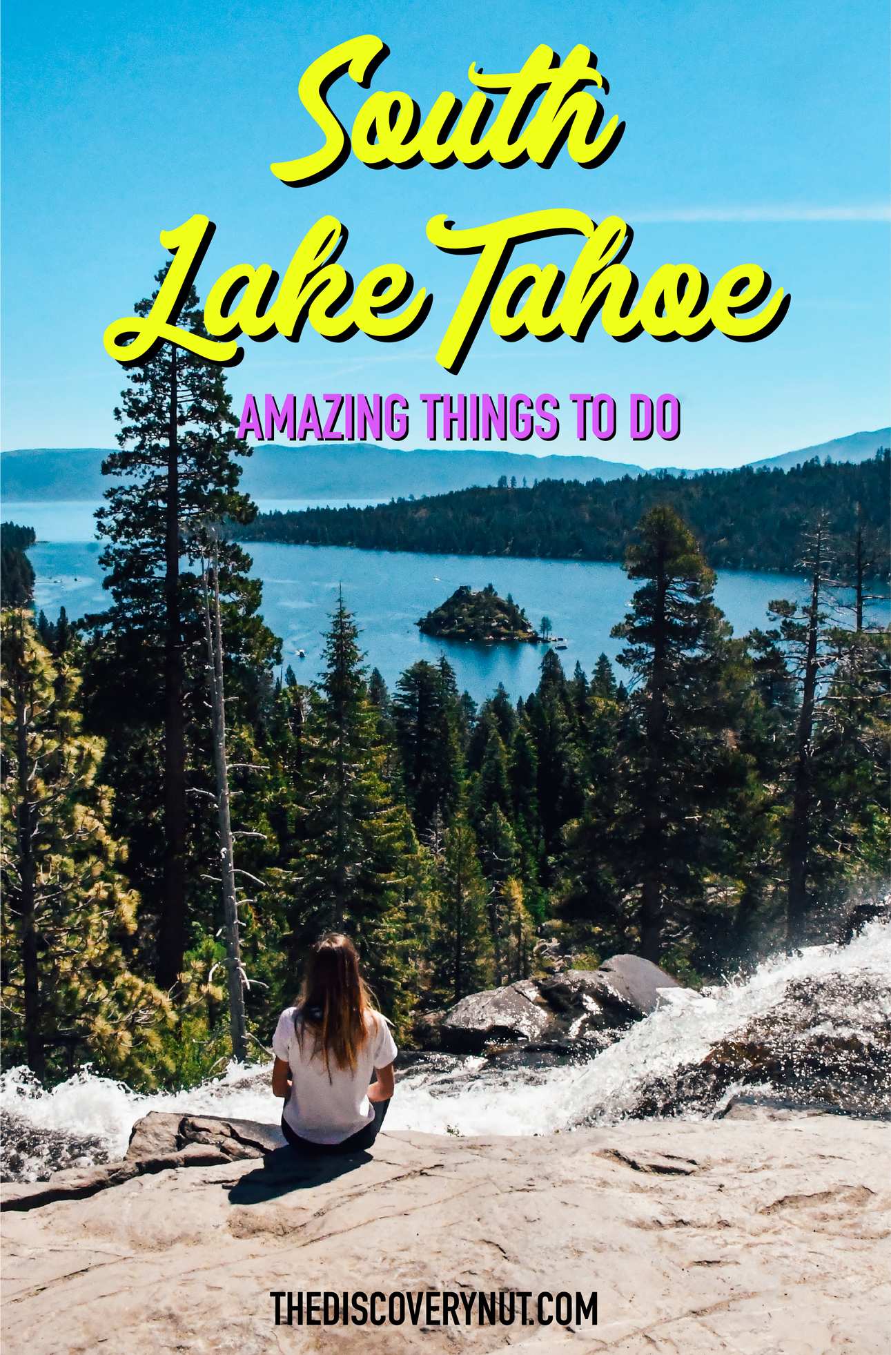South Lake Tahoe in California is one of the most beautiful places to visit in the United States. In my blog post I cover the best things to do in South Lake Tahoe, as well as the best hiking and camping spots and a whole lot more! #southlaketahoe #usaroadtrip #californiatravel #laketahoe #northamericatravel
