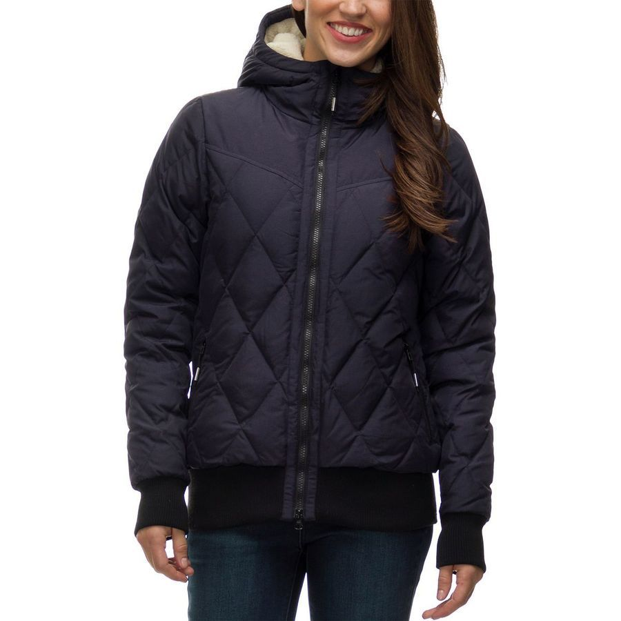 Basin And Range Quincy Hooded Down Bomber Jacket Women S Navy Bomber Jacket Women Jackets Bomber Jacket [ 900 x 900 Pixel ]