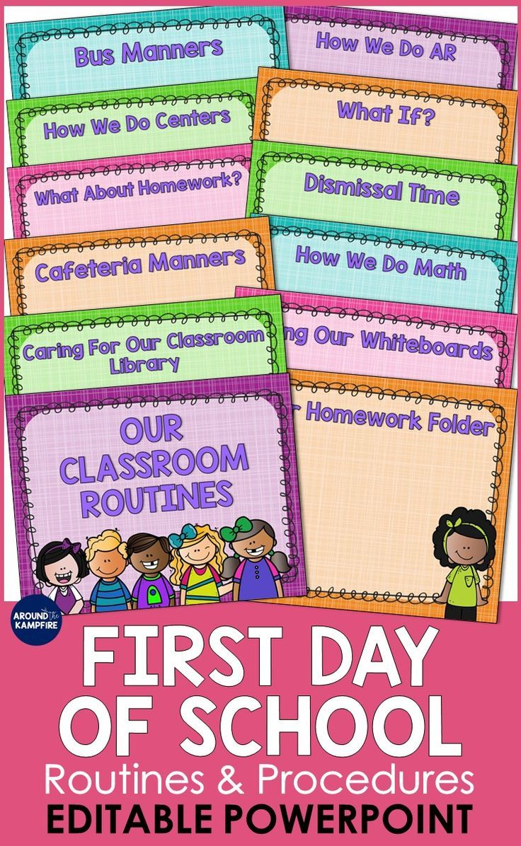 Back To School First Day Powerpoint Template Editable Tpt Language