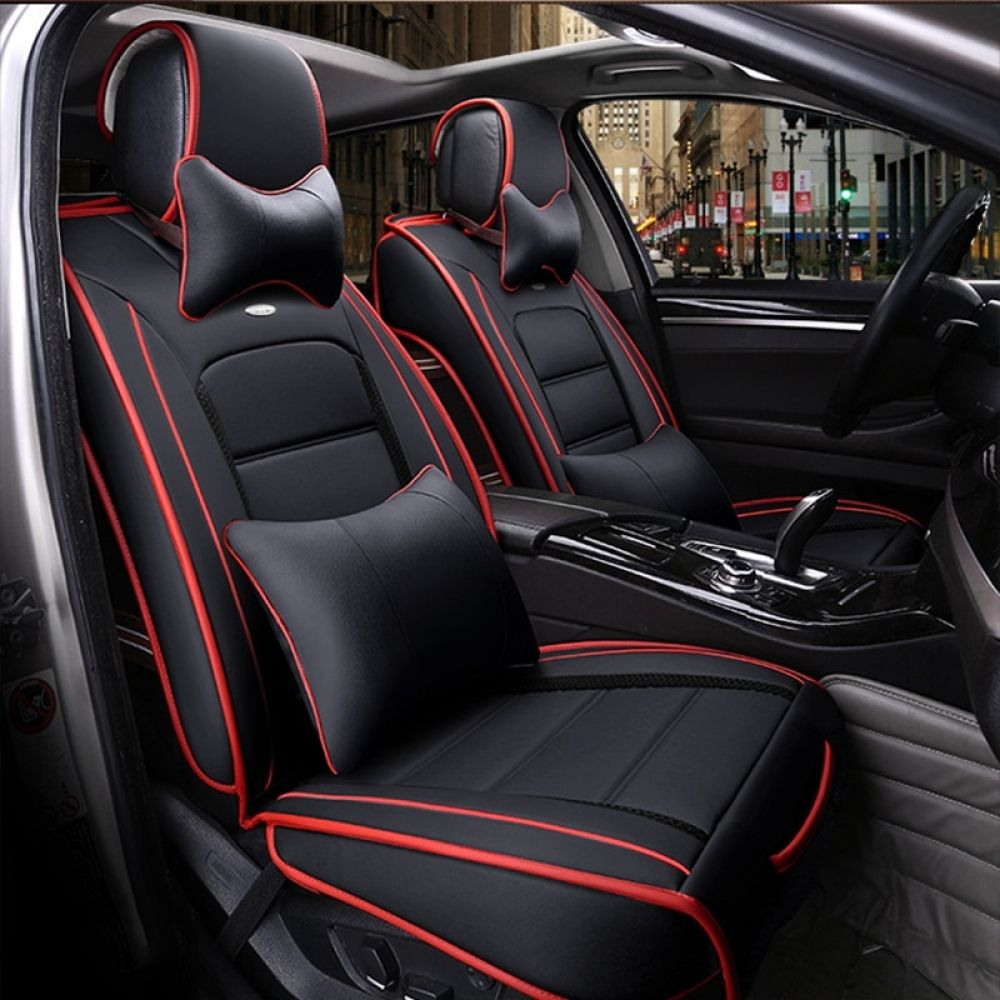 Special Leather Car Seat Covers Front Rear Leather Car