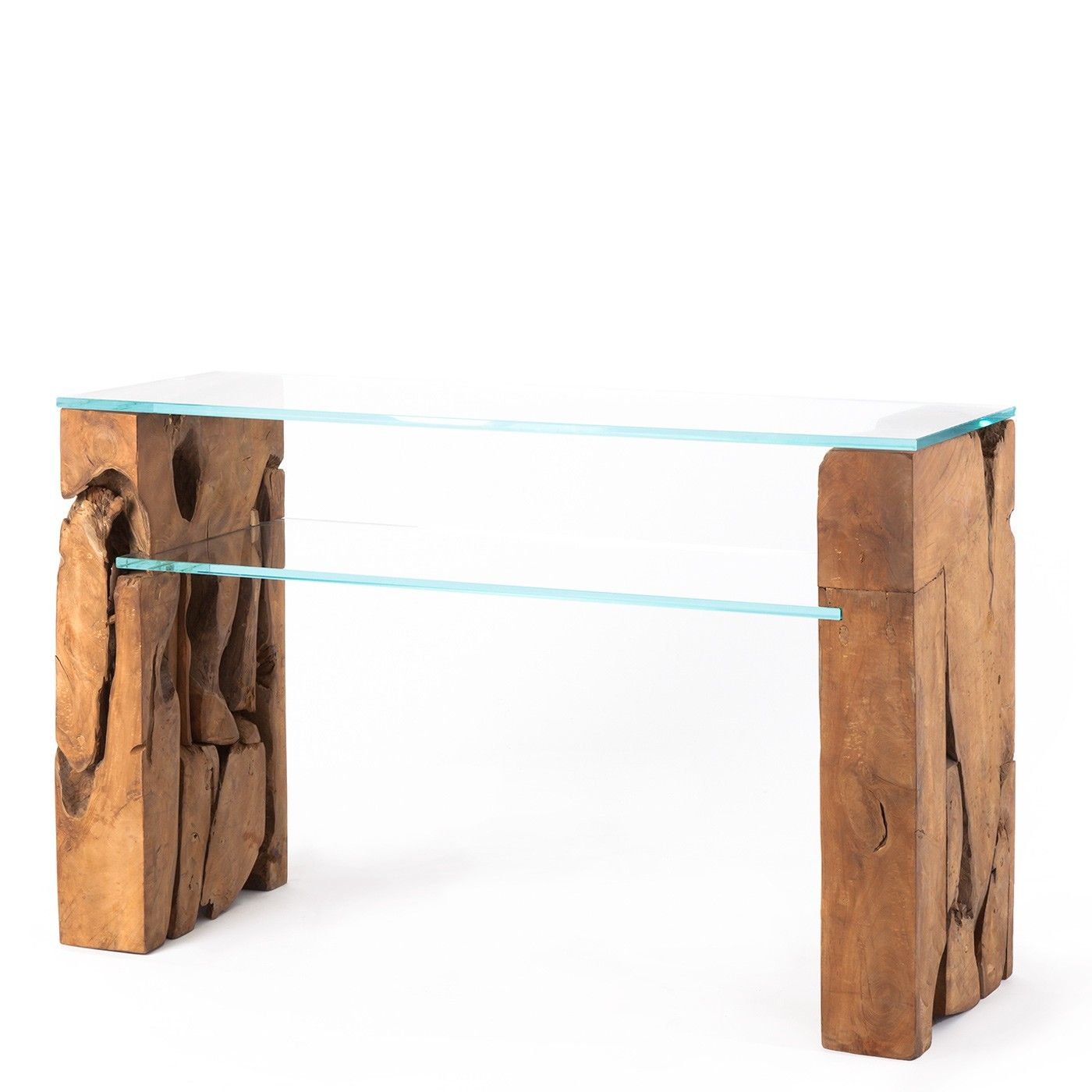 Glass Console Table With Teak Root Base Occasional Tables Living Raft Furniture London With Images Glass Table Set Glass Console Table Living Table